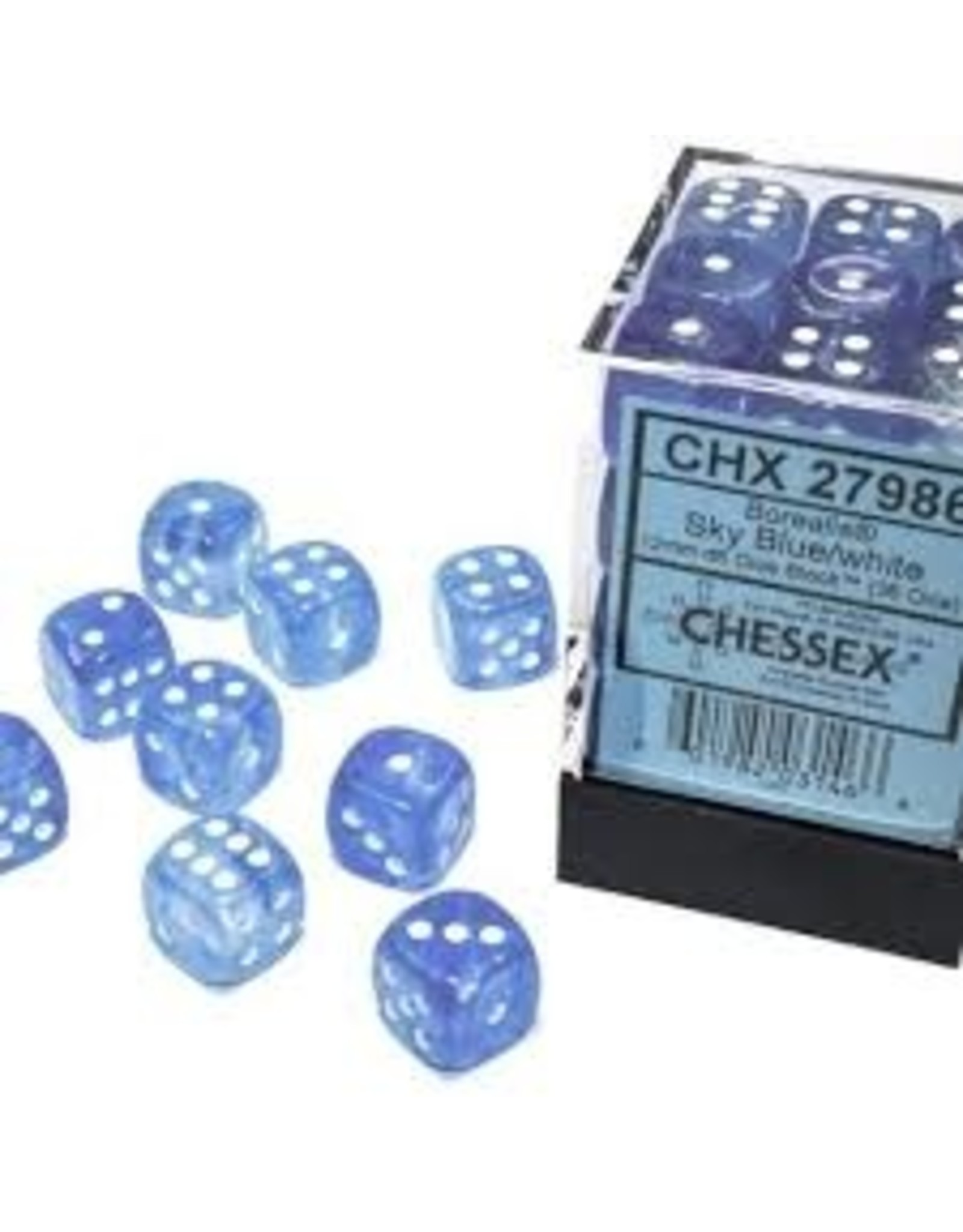 Chessex d6Cube12mm Borealis Luminary SBUwh (36)