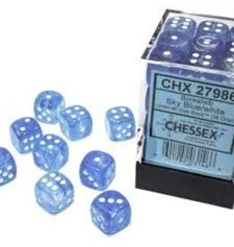 Chessex d6Cube12mm Borealis Luminary SBUwh (36)