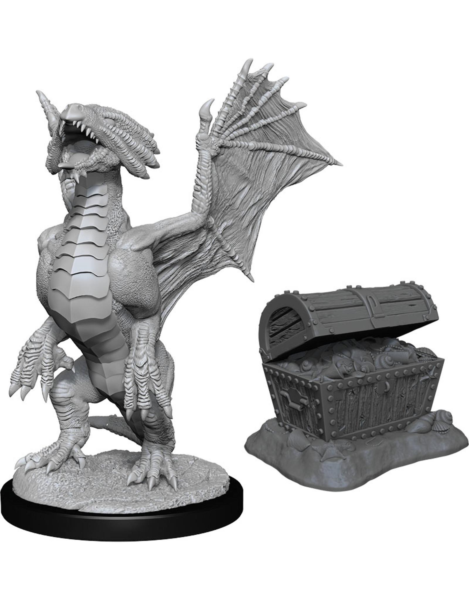 Wiz Kids D&D Nolzur's MUM: W13 Bronze Dragon Wyrmling & Pile of Sea Treasure
