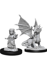Wiz Kids D&D Nolzur's MUM: W13 Silver Dragon Wyrmling & Female Halfling