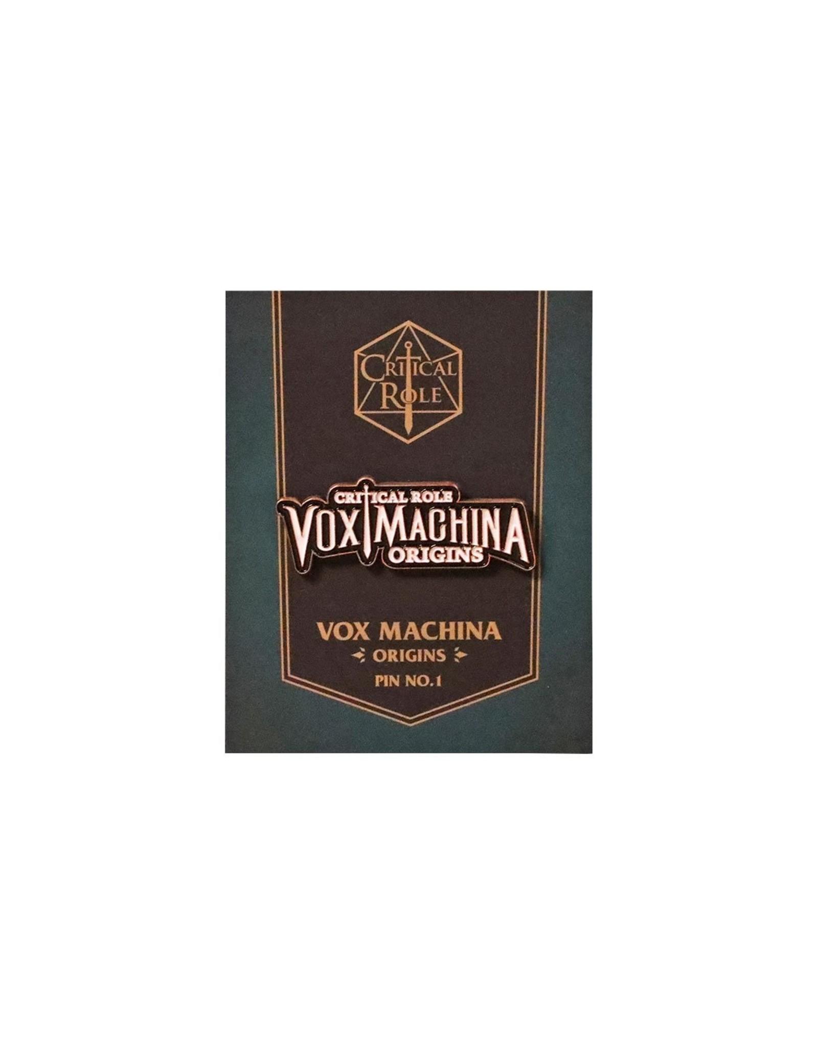 Critical Role Vox Machina Origins Logo Pin