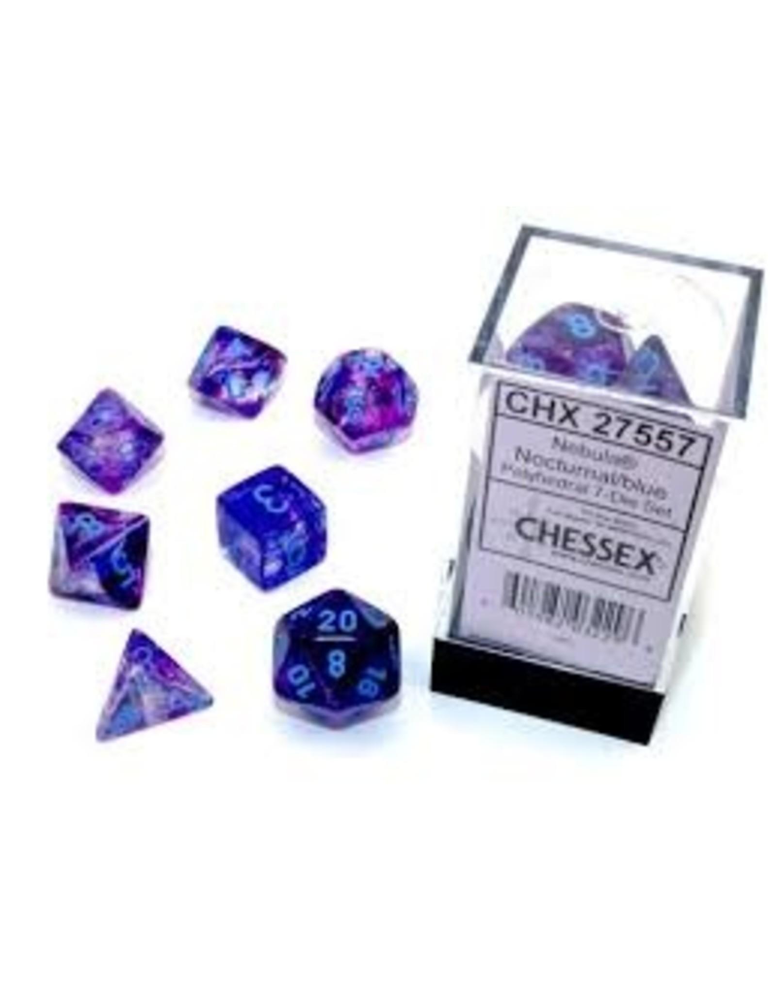 Chessex 7-setCube Luminary NB Nocturnal bu