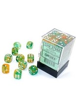Chessex d6Cube 12mm Luminary NB Spring wh (36)