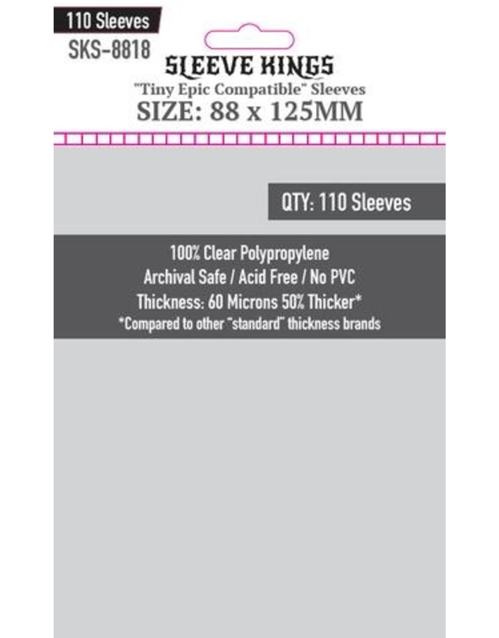"""Sleeve Kings Sleeve Kings """"Tiny Epic Compatible"""" Sleeves (88x125mm) - 110 Pack"""