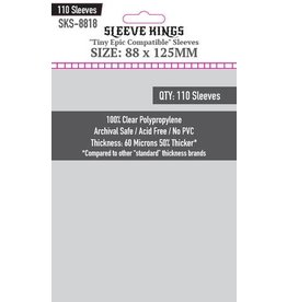 "Sleeve Kings Sleeve Kings ""Tiny Epic Compatible"" Sleeves (88x125mm) - 110 Pack"