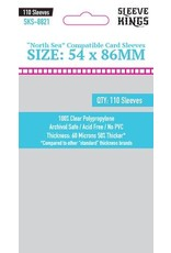 """Sleeve Kings """"North Sea Compatible"""" Sleeves (54x86mm) - 110 Pack"""
