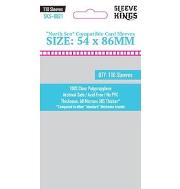 "Sleeve Kings ""North Sea Compatible"" Sleeves (54x86mm) - 110 Pack"