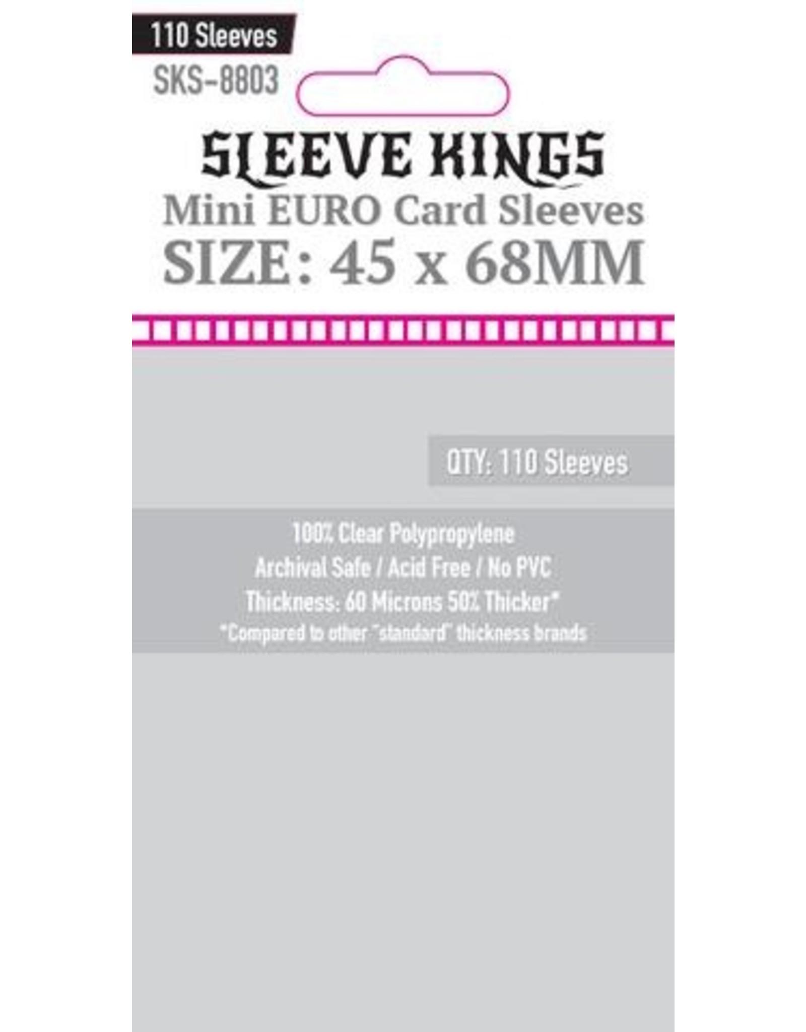 Sleeve Kings Sleeve Kings Mini Euro Card Sleeves (45x68mm) - 110 Pack