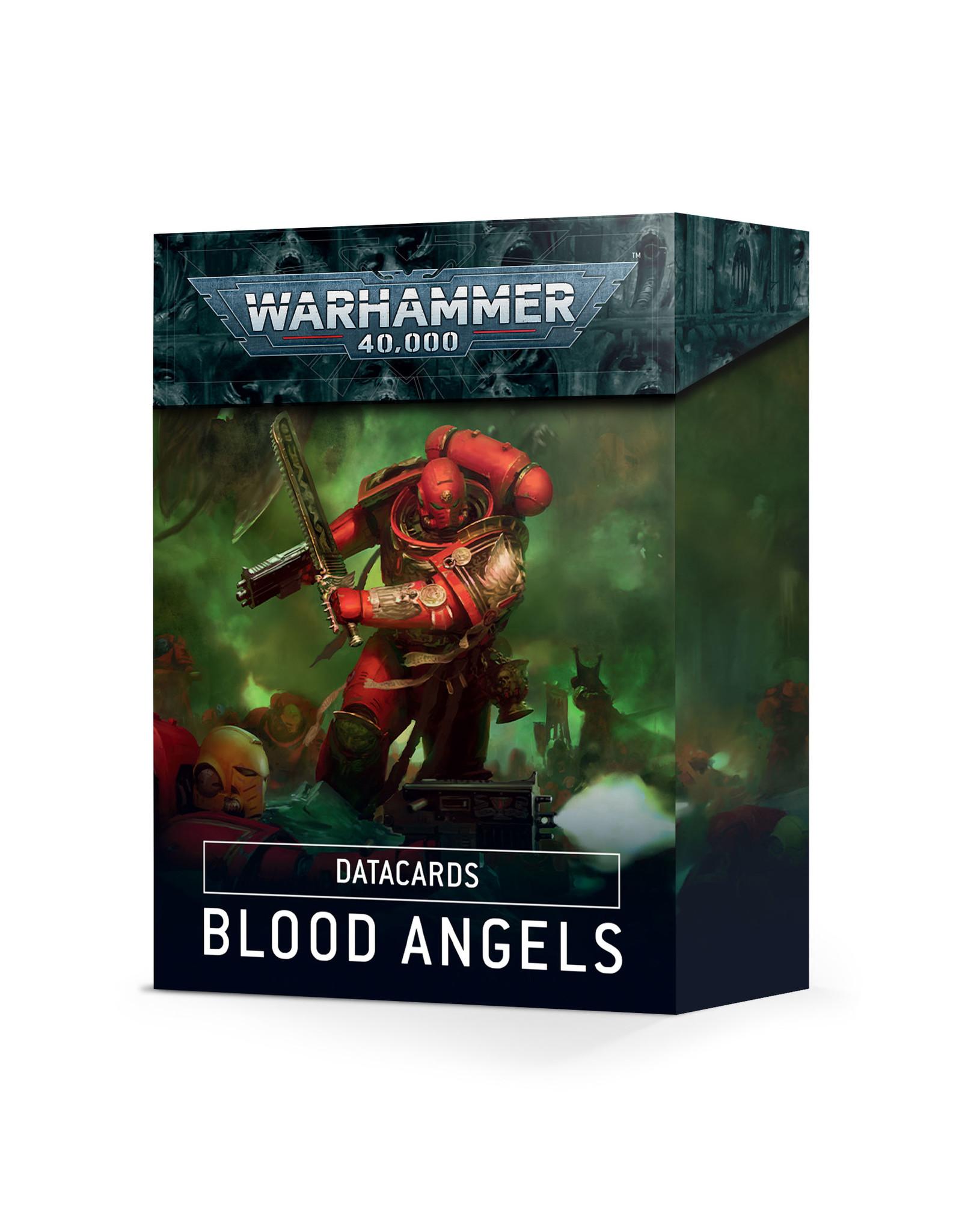 Warhammer 40K Blood Angels Datacards