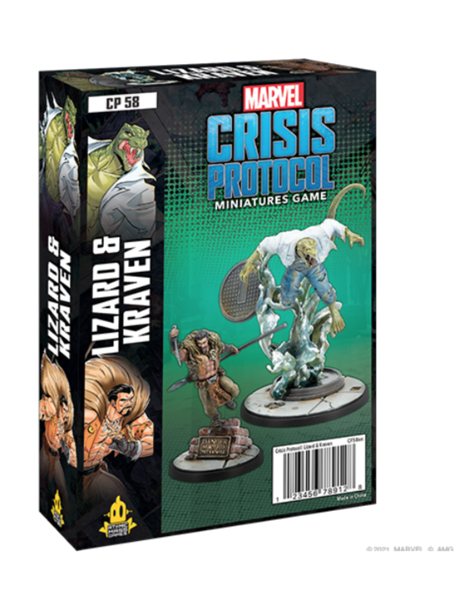 Atomic Mass Games Marvel Crisis Protocol: Lizard and Kraven (Pre Order)