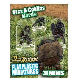 Arcknight Flat Plastic Minis: Orcs & Goblins Horde
