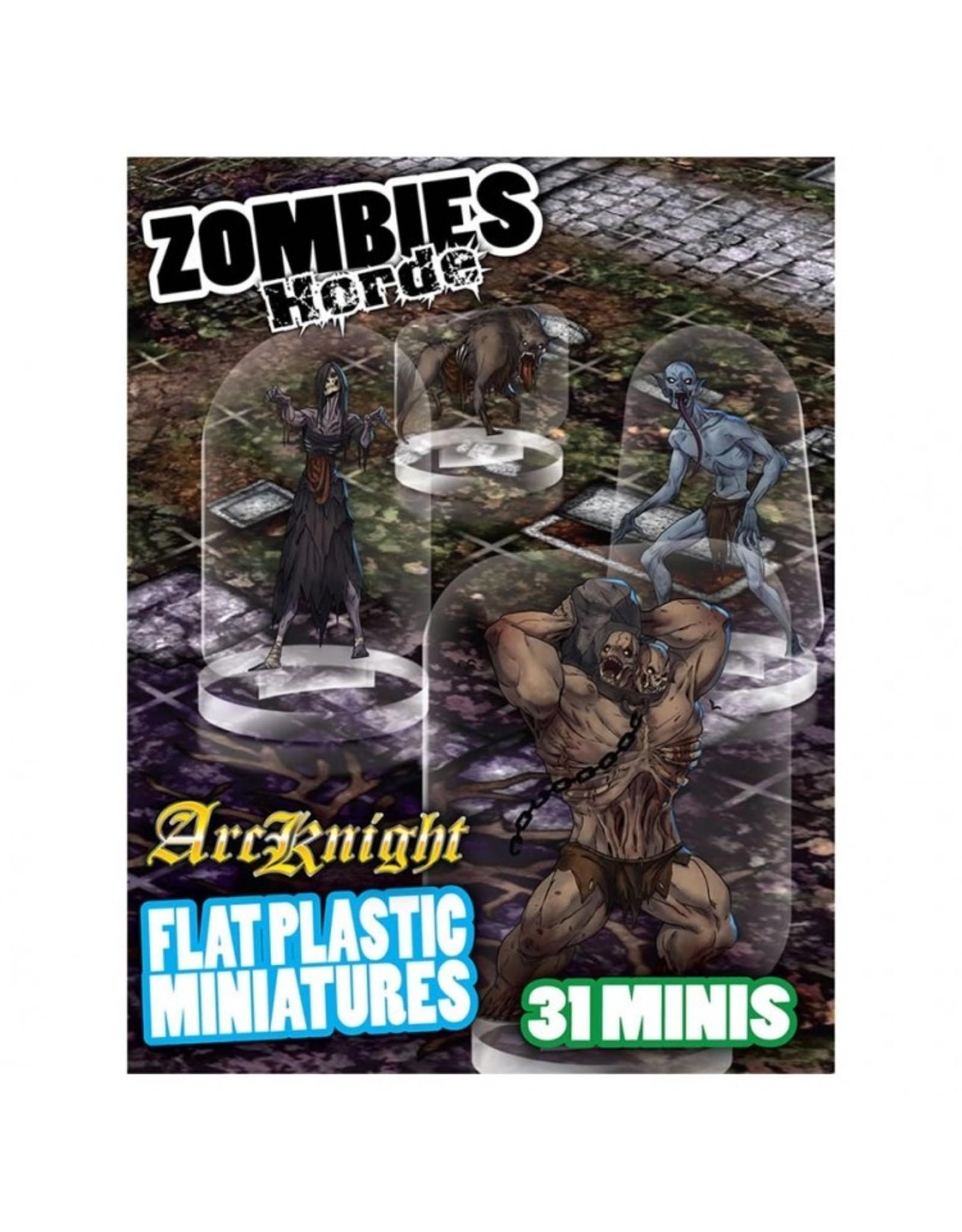 Arcknight Flat Plastic Miniatures: Zombies Horde
