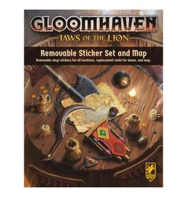 Cephalofair Games Gloomhaven: Jaws of the Lion Removable Sticker Set & Map