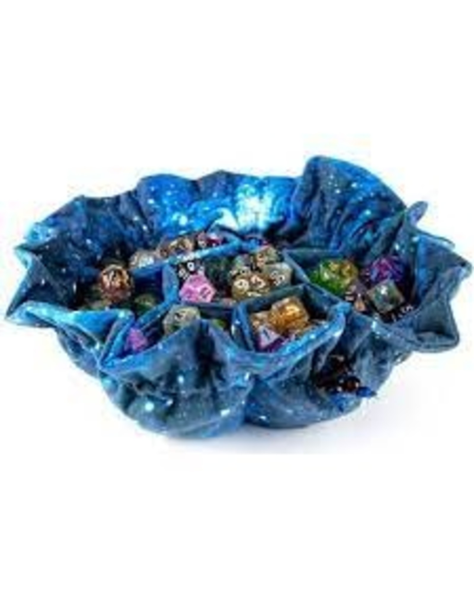 Metallic Dice Games Dice Bag with Pockets: Galaxy