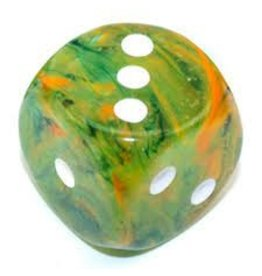 Chessex d6Cube 30mm Luminary NB Spring wh