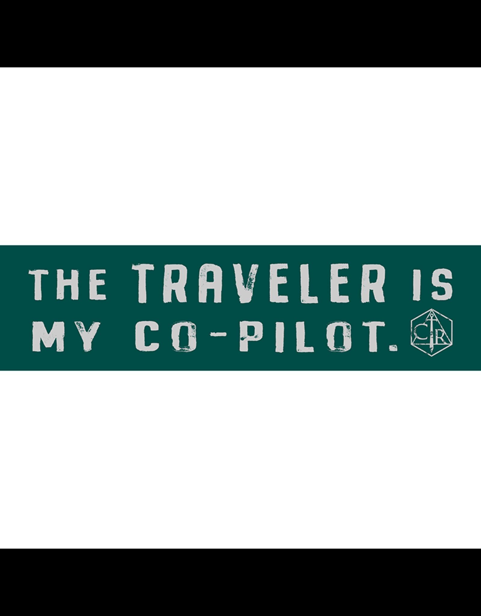 Critical Role The Traveler Is My Co-Pilot Bumper Sticker