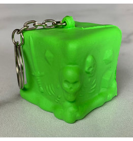 Creature Curation RPG Squeeze Gelatinous Cube Keychain - Green Gelatinous Cube