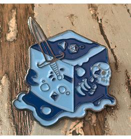 Creature Curation Gelatinous Cube – Blue - Pin