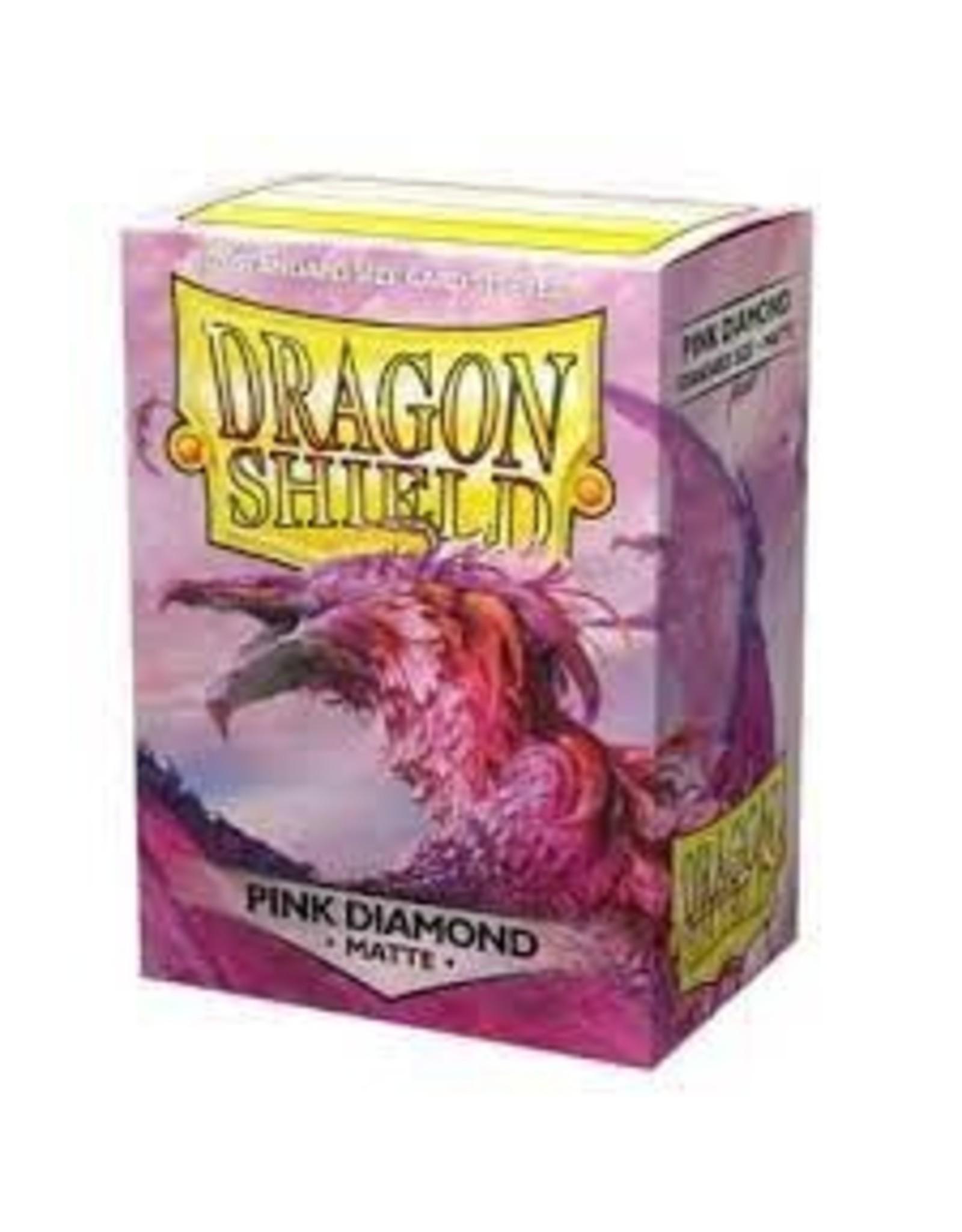 Dragon Shields: (100) Matte - Pink Diamond