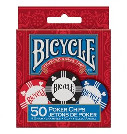 Bicycle Poker Chips: 8 Gram Clay (50)