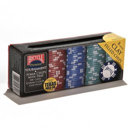 Bicycle Poker Chips: 8 Gram Clay w/ Tray (100)
