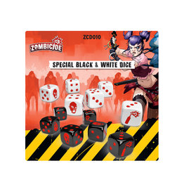 Cool Mini or Not Zombicide: Black and White Dice Pack