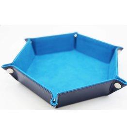 Foam Brain Leatherette & Velvet Hexagon Dice Tray