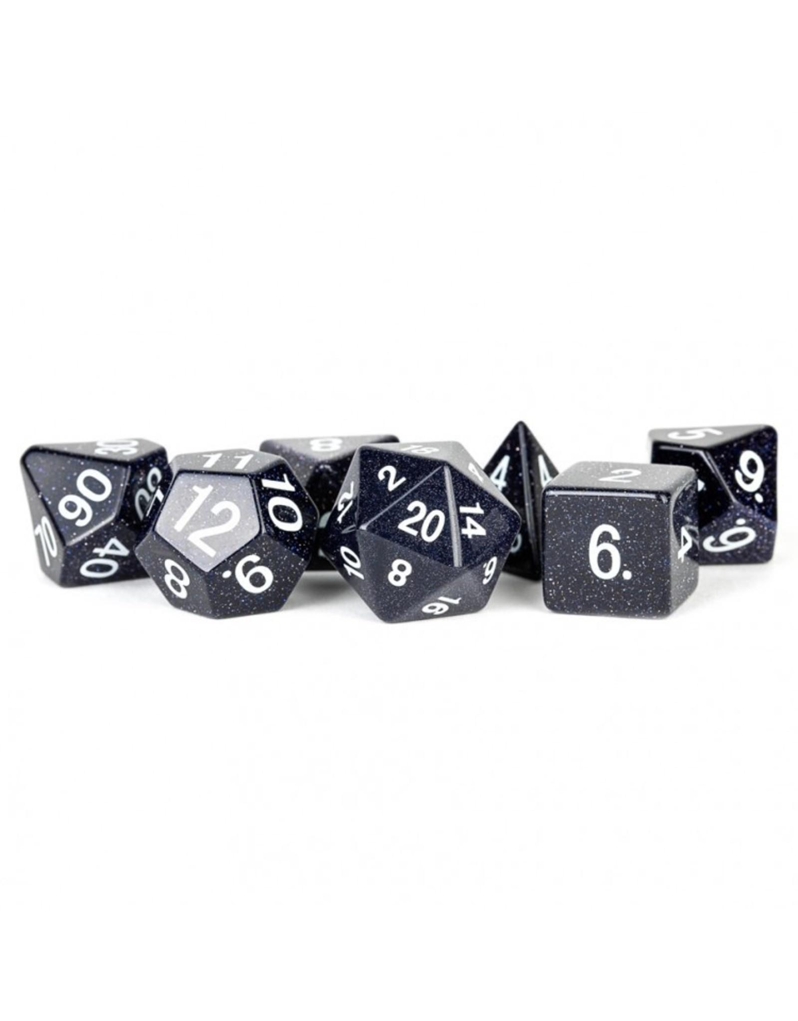 Metallic Dice Games 7-Set Blue Sandstone