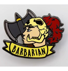 Foam Brain Banner Class Pins: Barbarian