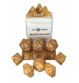 Role 4 Initiative 15 Dice Set: Marble Caramel WH
