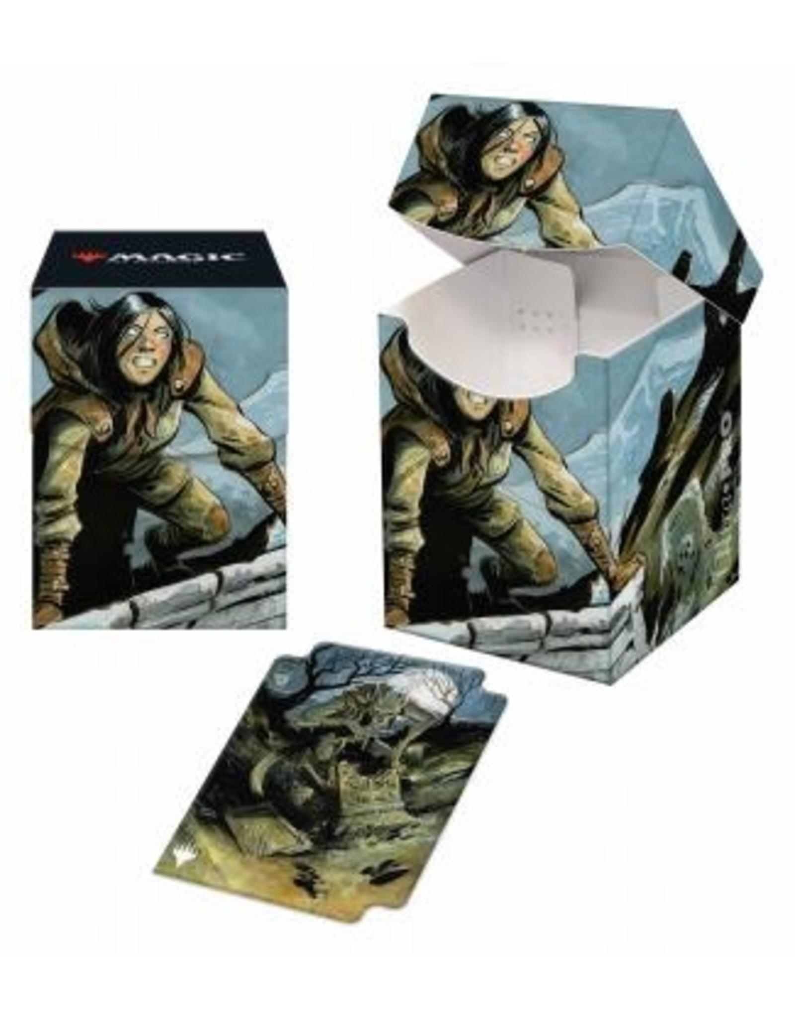 Ultra Pro Innistrad Midnight Hunt 100+ Deck Box V3 featuring Graveyard Trespasser