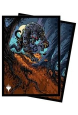 Ultra Pro Innistrad Midnight Hunt 100ct Sleeves V1 featuring Moonrage Brute