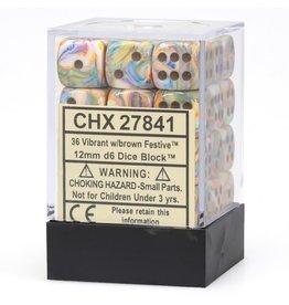 Chessex D6Cube12mm Festive Vibrant/br (36)