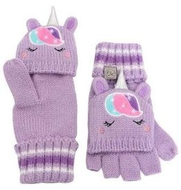 FLAPJACK KNITTED FINGERLESS GLOVES WITH MITTEN FLAP