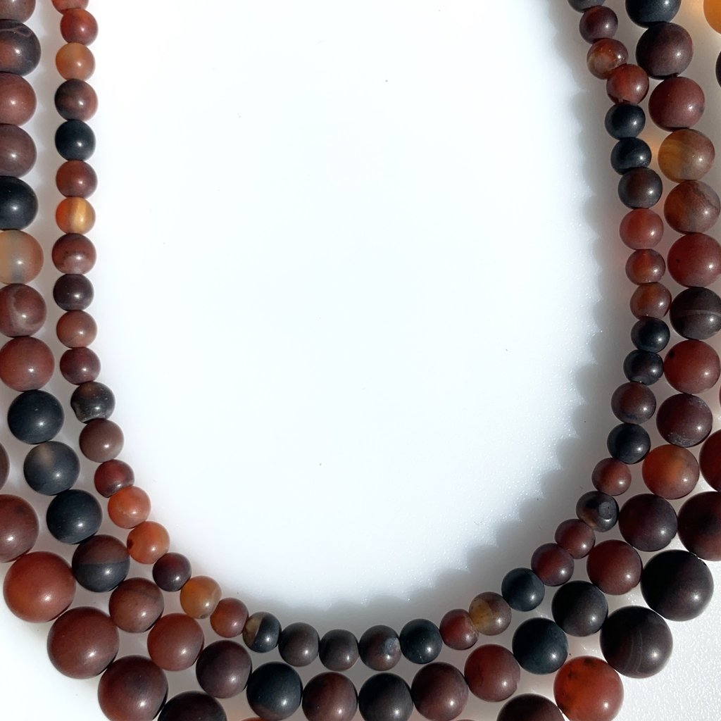 """Bead World Old Agate 16"""" Strand"""