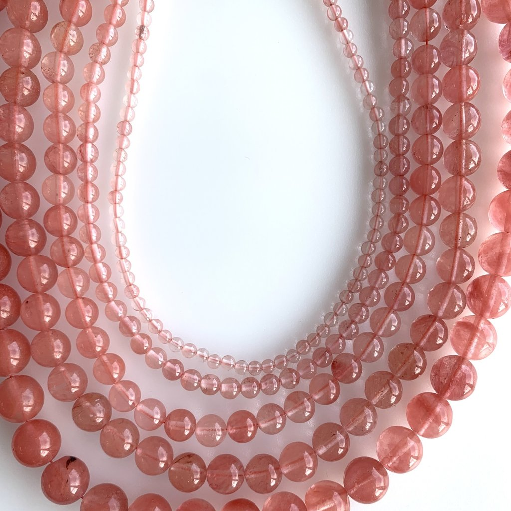 "Bead World Cherry Quartz  16"" Strand"