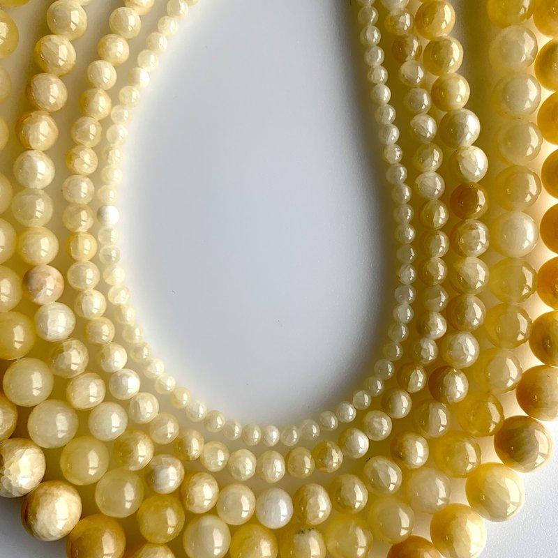 """Bead World Yellow Jade 16"""" Strand"""