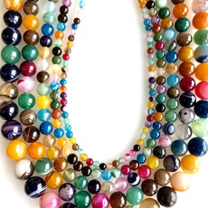 """Bead World Mixed Color Lace Agate 16"""" Strand"""