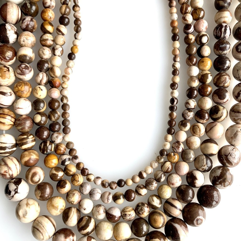 """Bead World Mexican Crazy Agate 16"""" Strand"""