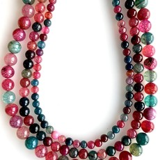 "Bead World Multi Color Agate  16"" Strand"