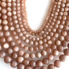 "Bead World Pink Moonstone 16"" Strand"