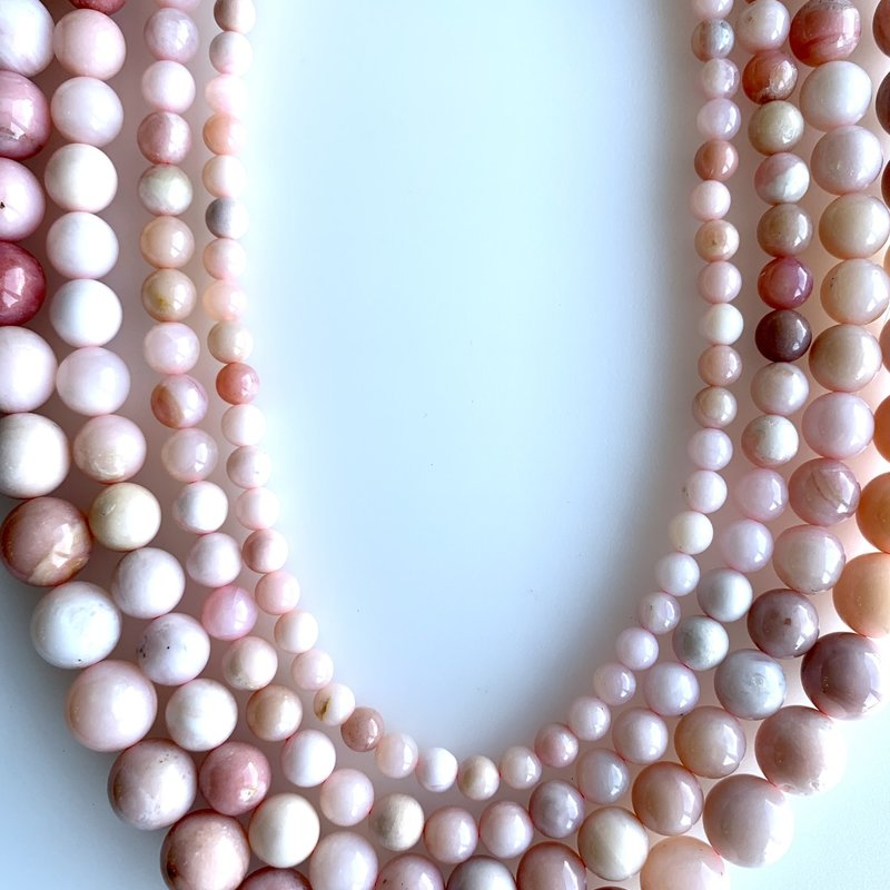 "Pink Opal Variegated 16"" Strand"