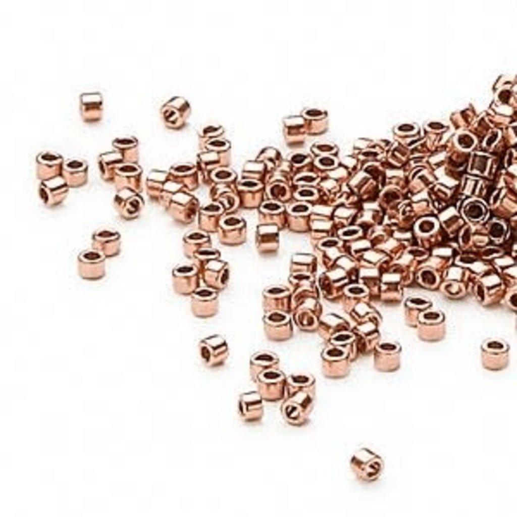 Miyuki Delica #11  Opaque Copper Finish Db0040 7.5 gram vial