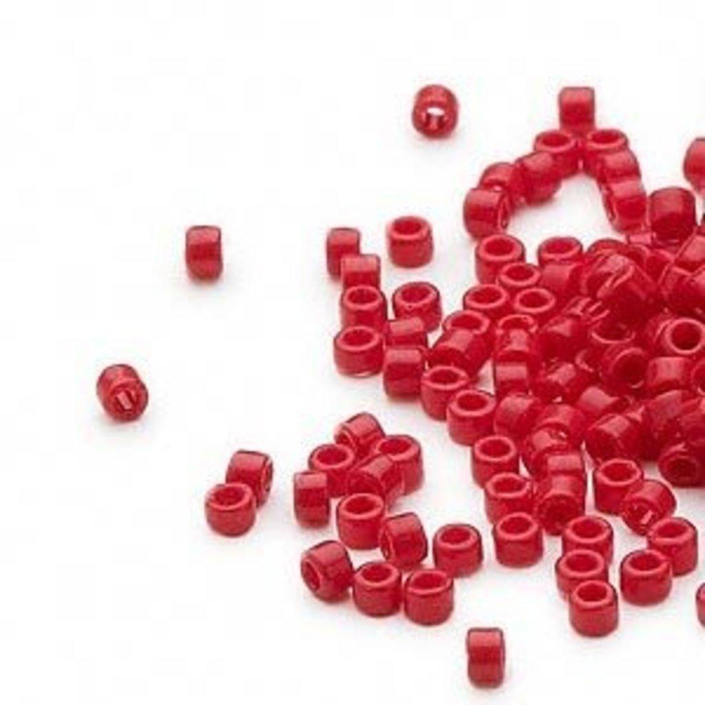 Miyuki Delica #11  Opaque Dark Red Db0723     7.5 gram vial