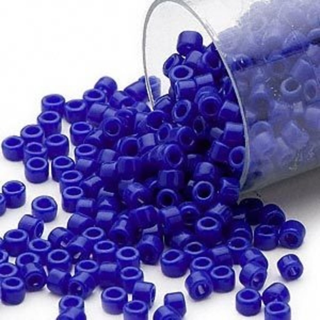 Miyuki Delica #11Opaque Dk Blue Db0726     7.5 gram vial