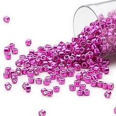 Miyuki Delica #11  Opaque Galvanized Magenta     Db0422 7.5 gram vial