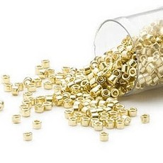 Miyuki Delica #11Opaque Galvanized Yellow Db0412 7.5 gram vial