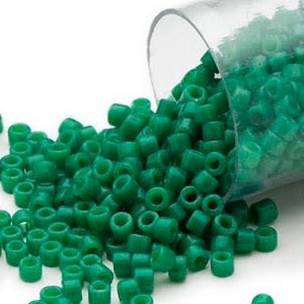Miyuki Delica #11 Opaque Green Db0656     7.5 gram vial
