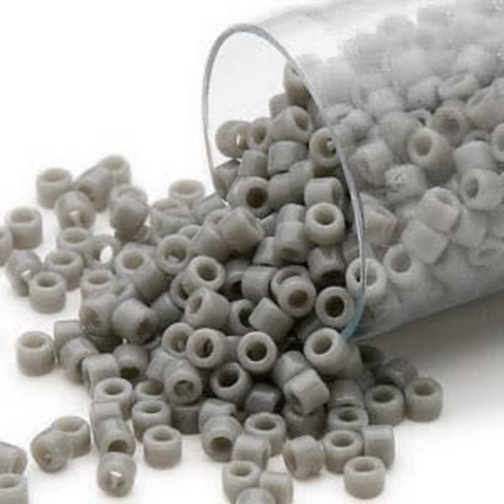 Miyuki Delica #11  Opaque Grey Db0731    7.5 gram vial