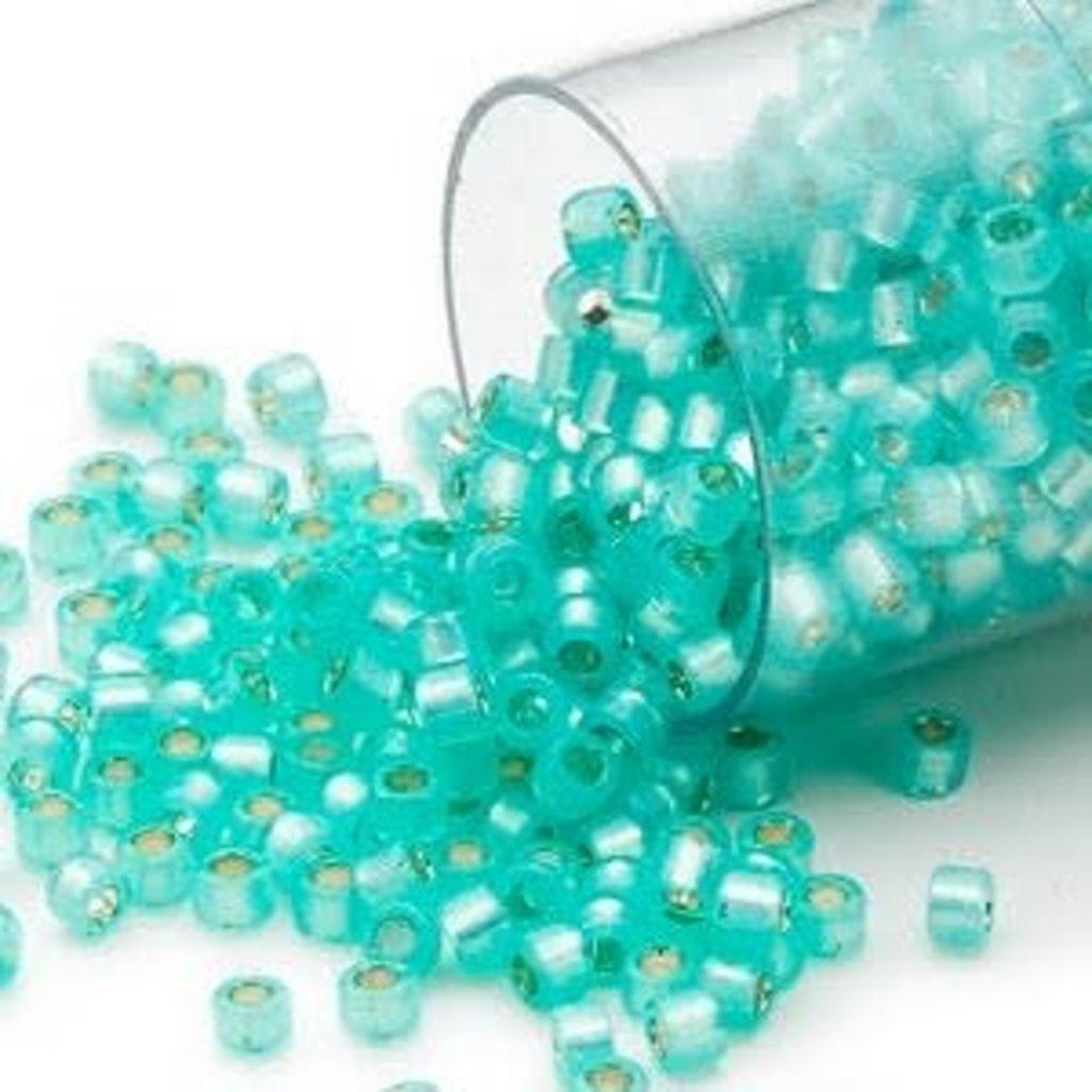 Miyuki Delica  #11 Silver-Lined Aqua Green Db0627 7.5 gram vial